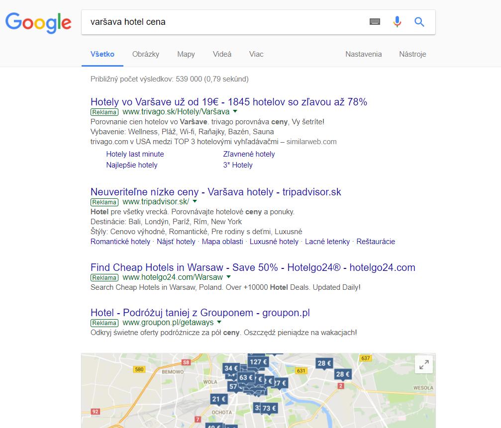 varšava hotel cena_výsledky vyhľadávania_ako-vytvorit-adwords-kampan_tomasstolc.sk